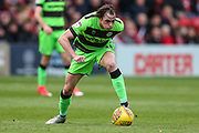 Forest Green Rovers Theo Archibald(18) during the EFL Sky Bet League 2 match between Lincoln City and Forest Green Rovers at Sincil Bank, Lincoln, United Kingdom on 3 November 2018.