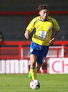 Accrington Stanley midfielder Matt Crooks surges forward during the Sky Bet League 2 match between Crawley Town and Accrington Stanley at the Checkatrade.com Stadium, Crawley, England on 26 September 2015. Photo by Bennett Dean.