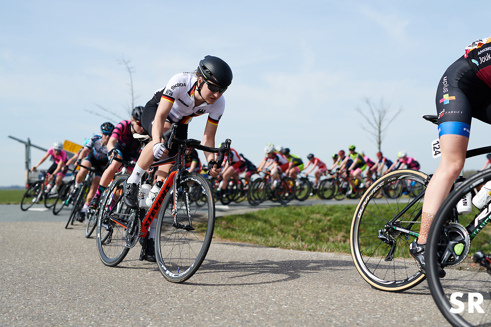 Anna Knauer (GER) at Healthy Ageing Tour 2018 - Stage 4, a 143 km road race starting and finishing in Winsum on April 7, 2018. Photo by Sean Robinson/Velofocus.com