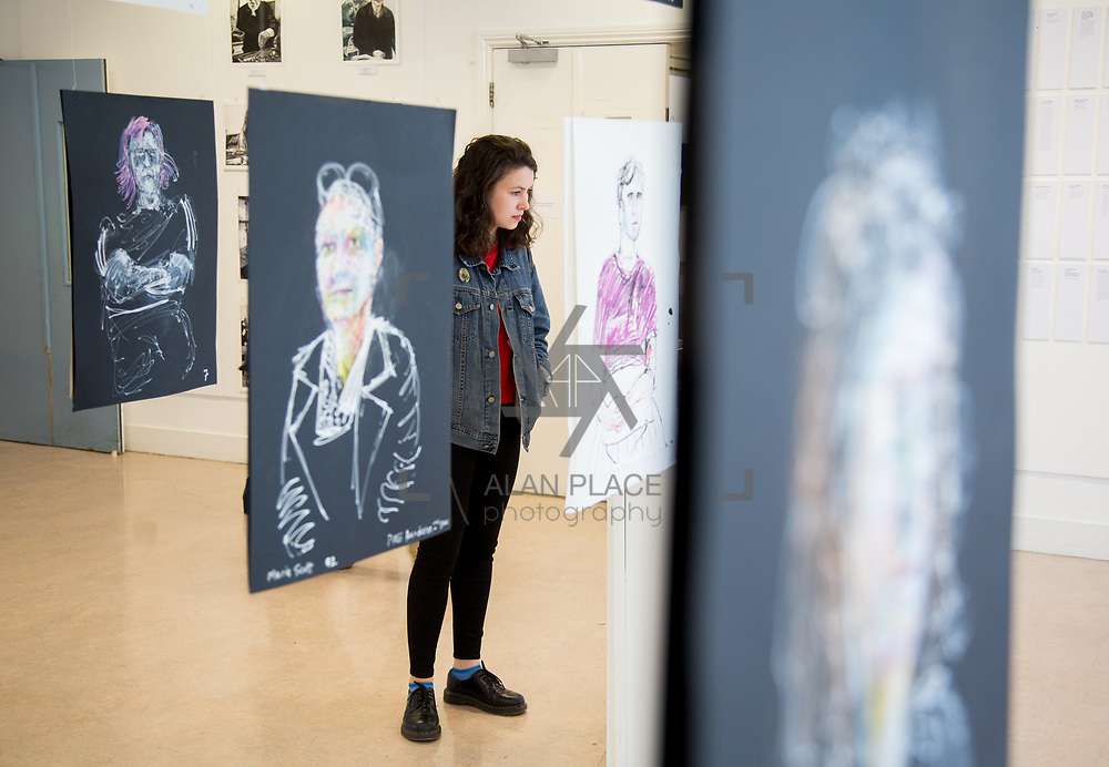 11.06.2017         <br /> International award winning artists are among the almost 200 graduates of Limerick School of Art and Design who's work went on exhibition at the LSAD Graduate Show 2017.<br /> <br /> Pictured is Therese Tynan admiring the work of 4th year graduating Printmaking and Contemporary Practise student, Barry Lemansey.<br /> <br />  <br /> Students from the college took control of the over-riding message of this historical show as they conceptualised, designed and delivered on the theme - be.cause.<br />  <br /> The hypothesis conceived by Graphic Design graduates Cassandra Walsh and David Reilly, is derived from the fact the graduates have now reached a stage where they are confident with their work, their interpretations and creative solutions. As creative minds they have an innate need to &ldquo;do&rdquo; something. There is just this need to create, be.cause.<br /> . Picture: Alan Place.