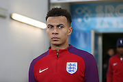 England Midfielder Dele Alli during a general stadium walk around before the Slovenia vs England FIFA World Cup Group F Qualifier match at Stadion Stozce, Ljubljana, Slovenia on 10 October 2016. Photo by Phil Duncan.