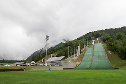 Athlete and the hilss during ski jumping training in Nordic Center Planica, on June 29, 2017 in Planica, Slovenia. Photo by Matic Klansek Velej / Sportida