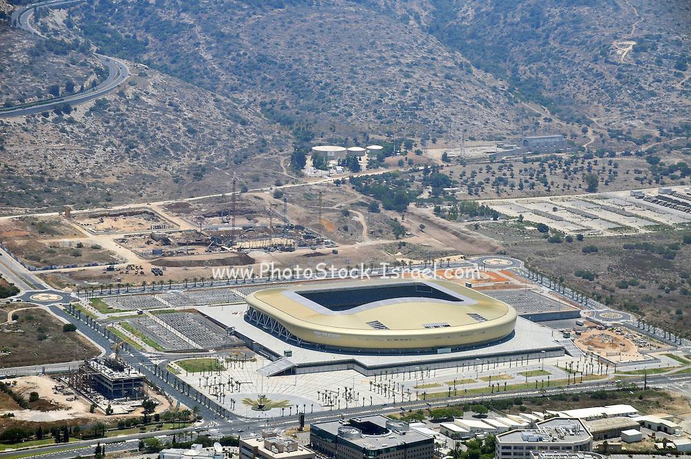 Aerial Photography of Haifa, Israel The Sammy Ofer Sports Stadium