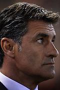 "VALENCIA, SPAIN - JANUARY 12: Coach of Sevilla FC Miguel Gonzalez Martin ""Michel"" looks on during the Liga BBVA between Valencia CF and Sevilla FC at the Mestalla Stadium on January 12, 2013 in Valencia, Spain. (Photo by Aitor Alcalde Colomer)."