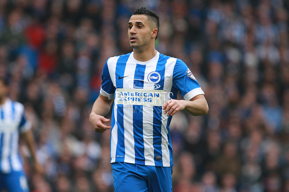 Brighton central midfielder Beram Kayal during the Sky Bet Championship match between Brighton and Hove Albion and Derby County at the American Express Community Stadium, Brighton and Hove, England on 2 May 2016. Photo by Bennett Dean.