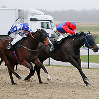 Liberal Lady and Joe Fanning winning the 3.00 race