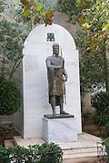 Statue of Constantine XI Palaiologos, Athens, Attica, Greece