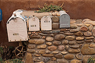 Santa Fe, New Mexico, Canyon Road, mail boxes