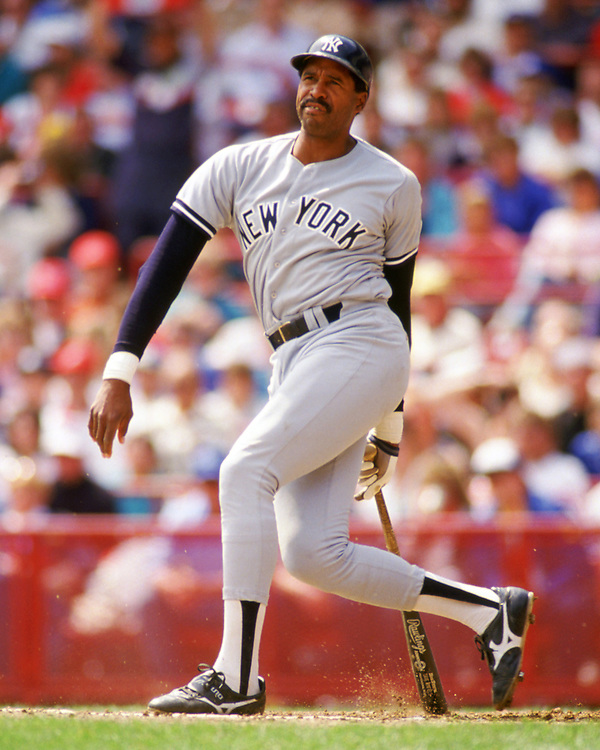 MILWAUKEE - 1988:  Dave Winfield of the New York Yankees bats during an MLB game against the Milwaukee Brewers at County Stadium in Milwaukee, Wisconsin during the 1988 season. (Photo by Ron Vesely).  Subject:   Dave Winfield