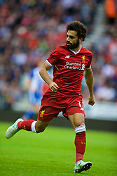 WIGAN, ENGLAND - Friday, July 14, 2017: Liverpool's Mohamed Salah in action against Wigan Athletic during a preseason friendly match at the DW Stadium. (Pic by David Rawcliffe/Propaganda)