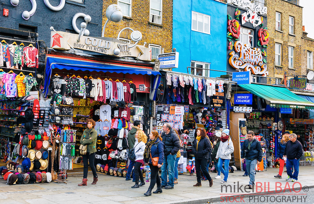 Camden Town Market. London, England, United kingdom, Europe.