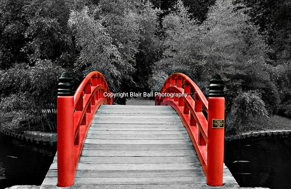 Half Moon Bridge at Memphis Botanical Garden. Memphis TN.