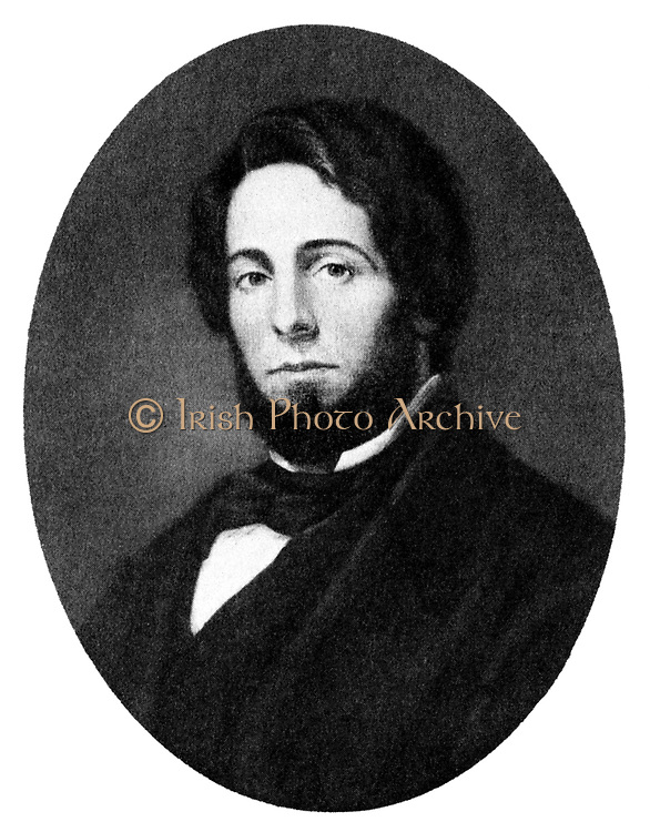 Herman Melville (1819-1991) best-remembered for his novel of the whaling industry  'Moby Dick' (1851).