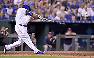 June 30, 2017 - Kansas City, MO, USA - The Kansas City Royals' Mike Moustakas connects on a solo home run in the sixth inning against the Minnesota Twins at Kauffman Stadium in Kansas City, Mo., on Friday, June 30, 2017. (Credit Image: © John Sleezer/TNS via ZUMA Wire)