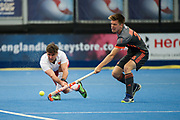 England's Adam Dixon. England v The Netherlands - Semi Final - Hockey World League Semi Final, Lee Valley Hockey and Tennis Centre, London, United Kingdom on 24 June 2017. Photo: Simon Parker