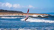Windsurfing at San Simeon, California USA