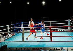 Jan Sekol&nbsp; of Slovenia (BLUE) fights against Suleiman Taher of Austria (RED) in Elite 75 kg Category<br />  during Dejan Zavec Boxing Gala event in Sentilj, on September 30, 2017 in Mond, Casino &amp; Hotel, Sentilj, Slovenia. Photo by Vid Ponikvar / Sportida