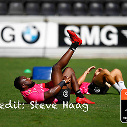 Tendai Beast Mtawarira of the Cell C Sharks during The Cell C Sharks training session at Jonsson Kings Park Stadium in Durban, South Africa. 28th February 2019 (Photo by Steve Haag)
