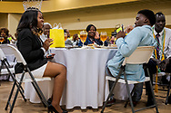 Kiana Gay as Miss Concordia has her picture taken at the Class of 2018 Graduation & Awards Banquet in the Julius and Mary Jenkins Center on Thursday, April 26, 2018, at Concordia College Alabama in Selma, Ala. LCMS Communications/Erik M. Lunsford