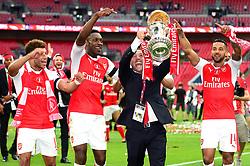 Alex Oxlade-Chamberlain of Arsenal, Danny Welbeck, Mohamed Elneny, Santi Cazorla and Theo Walcott celebrate beating Chelsea in the FA Cup final 2017 - Mandatory by-line: Dougie Allward/JMP - 27/05/2017 - FOOTBALL - Wembley Stadium - London, England - Arsenal v Chelsea - Emirates FA Cup Final