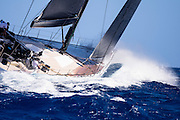 Galateia sailing in the St. Barth's Bucket Regatta.