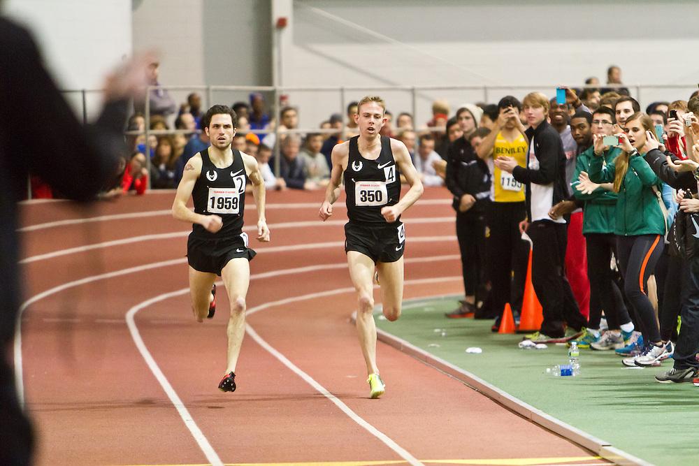Boston University Terrier Invitational Indoor Track Meet: Galen Rupp, Oregon Project, wins Elite Mile 3:50.92 as Dorian Ulrey paces