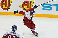 Joie Ondrel Nemec - 07.05.2015 - Republique Tcheque / France - Championnat du Monde de Hockey sur Glace <br />Photo : Xavier Laine / Icon Sport