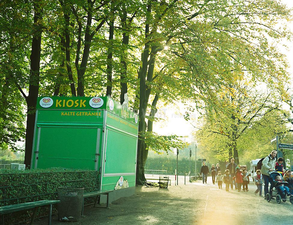 Kiosk am Eingang des Tierparks Hagenbeck