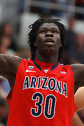 Feb 4, 2012; Stanford CA, USA; Arizona Wildcats forward Angelo Chol (30) before a free throw against the Stanford Cardinal during the first half at Maples Pavilion.  Arizona defeated Stanford 56-43. Mandatory Credit: Jason O. Watson-US PRESSWIRE