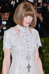 Anna Wintour walking the red carpet at The Metropolitan Museum of Art Costume Institute Benefit celebrating the opening of Heavenly Bodies : Fashion and the Catholic Imagination held at The Metropolitan Museum of Art  in New York, NY, on May 7, 2018. (Photo by Anthony Behar/Sipa USA)