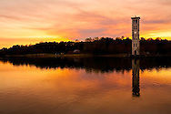 Clock Tower by the Lake at Furman University - Greenville, SC