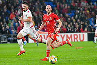 Football - 2019 / 2020 International Friendly - Wales vs. Belarus<br /> <br /> Jonathan Williams of Wales, at Cardiff City Stadium.<br /> <br /> COLORSPORT/WINSTON BYNORTH