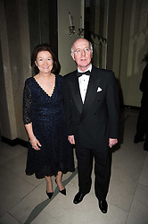 JOHN OXX trainer of Sea The Stars and his wife CATRINA at the Cartier Racing Awards 2009 held at Claridge's, Brook Street, London on 17th November 2009.