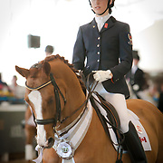 Laurence Blais Tetreault and Lowelas during the 2013 Wellington Classic Dressage Sunshine Challenge at the Jim Brandon Equestrian Center in West Palm Beach, Florida.