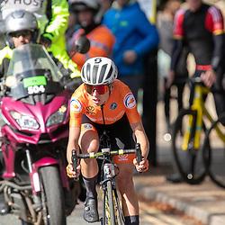 28-09-2019: WK wielrennen: Weg vrouwen: Yorkshire<br />Annemiek van Vleuten on her way to the worldtitle road cycling after a long attack