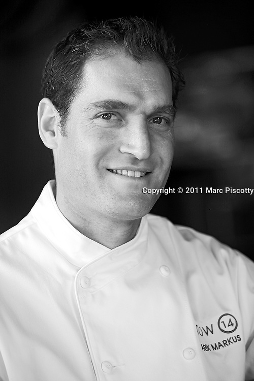 SHOT 4/30/11 3:45:13 PM - Portrait and headshot of Arik Markus, Chef/Owner at Row 14 Bistro & Wine Bar. (Photo by Marc Piscotty / © 2011)