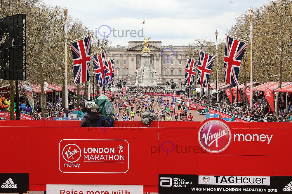Buckingham Palace Finish Line, Virgin Money London Marathon, London UK, 24 April 2016, Photo by Brett D. Cove