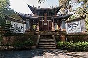 CHINA, Yunnan Province, one of the man temples on Weiboshan mountain (near Weinshan town).