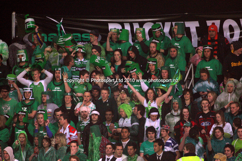 Manawatu bucketheads. ITM Cup rugby - Manawatu Turbos v Canterbury at FMG Stadium, Palmerston North, New Zealand on Friday, 5 August 2010. Photo: Dave Lintott/Photosport
