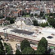 Nella foto:  Spina 4 cantieri alta velocità .. Reportage fotografico aereo di bassa quota per l'importante progetto di trasformazione urbana Variante n. 200 al P.R.G. inerente la Linea 2 Metropolitana e Quadrante Nord-Est di Torino: Barriera di Milano, Rebaudengo, Falchera, Regio Parco, Barca e Bertolla.