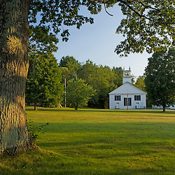 Early morning on the town green in Guildhall, Vermont in the Northeast Kingdom.