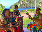 Polynesian Music, Vaitahu Village, Tahuata, Marquesas; French Polynesia; South Pacific