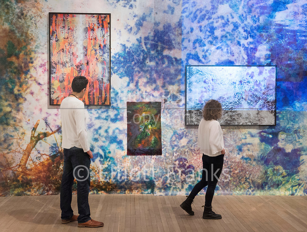 Shape of Light: 100 Years of Photography and Abstract Art <br /> at Tate Modern, Bankside, London SE1 9TG<br /> Press view 30th April 2018 <br /> <br /> Works by Maya Rochat b. 1985 <br /> A Rock is a River 2018 <br /> <br /> <br /> <br /> Shape of Light: 100 Years of Photography and Abstract Art will be the first show of this scale to explore photography in relation to the development of abstraction, from the early experiments of the 1910s to the digital innovations of the 21st century. Featuring over 300 works by more than 100 artists including Man Ray, Aaron Siskind, André Kertesz, Bridget Riley and Jackson Pollock, the exhibition will explore the history of abstract photography side-by-side with iconic paintings and sculptures.<br /> <br /> Photograph by Elliott Franks