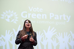 &copy; Licensed to London News Pictures.  26/05/2017; Bristol, UK. General Election 2017; AMELIA WOMACK. Green Party campaign in their number one target seat, Bristol West where they hope to gain their second Green MP with candidate Molly Scott Cato (currently MEP for the south west of England). Molly spoke with Green Party co-leader, the Green Party's only MP to date, and deputy leader Amelia Womack at a Bristol Green Society event at the University of Bristol Students Union Winston Theatre.<br /> Picture credit : Simon Chapman/LNP