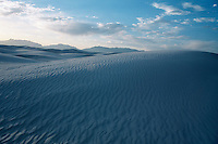 Rippled sand dunes