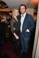 CHARLIE GILKES and ANNEKE VON TROTHA TAYLOR at a party hosted by Lady Kinvara Balfour, Lavinia Brennan and Lady Natasha Rufus Isaacs to celebrate the Beulah French Sole Collaboration in aid of the UN Blue Heart Campaign, held at George, 87-88 Mount Street, London on 10th December 2013.