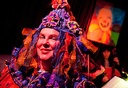 """Pat Jolly at the New Orleans Radical Faeries' St. Brigid Ball, """"Clowns-Only Luau"""", at the AllWays Lounge"""