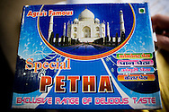 """""""Agra Ki Peitha"""", the Agra speciality sweetened crystalized pumpkin sold to passengers by vendors who board the Himsagar Express 6318 as it passes through Agra, the city of Taj Mahal fame, on 7th July 2009.. .6318 / Himsagar Express, India's longest single train journey, spanning 3720 kms, going from the mountains (Hima) to the seas (Sagar), from Jammu and Kashmir state of the Indian Himalayas to Kanyakumari, which is the southern most tip of India...Photo by Suzanne Lee / for The National"""