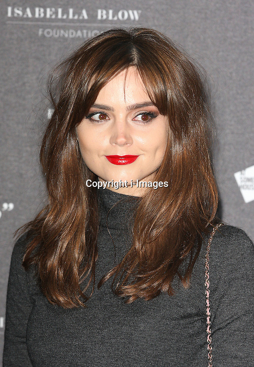Jenna Coleman  arriving at the opening of the  Isabella Blow at the Isabella Blow exhibition at Somerset House in London, Tuesday, 19th November 2013   Photo by: i-Images