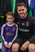 AFC Wimbledon goalkeeper Joe McDonnell (24), Mascotduring the EFL Sky Bet League 1 match between AFC Wimbledon and Fleetwood Town at the Cherry Red Records Stadium, Kingston, England on 22 January 2019.